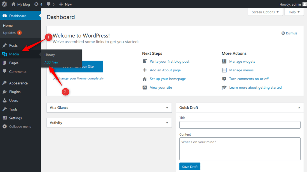 How to check maximum upload file size on your WordPress website step-1