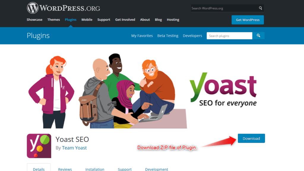 Download a plugin's zip file from wordpress.org