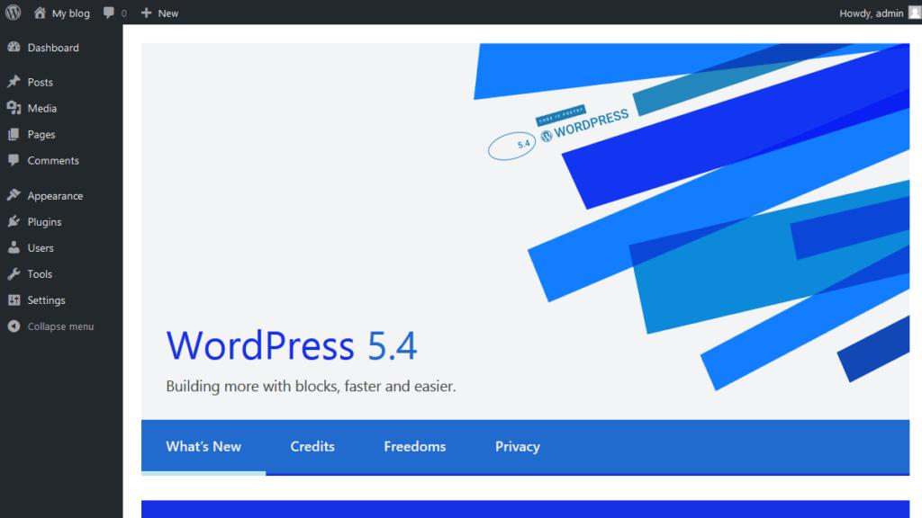 WordPress Manually Updated to Version 5.4