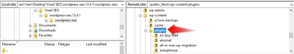 plugins folder in wp-content folder