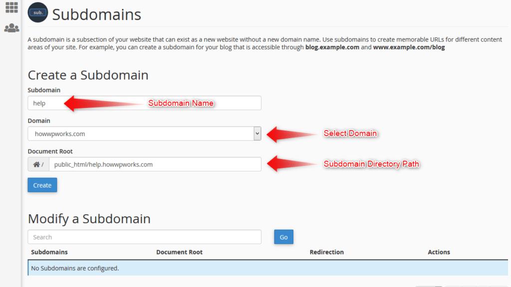 Fill new subdomain data
